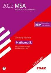 STARK Lösungen zu Original-Prüfungen und Training MSA 2022 - Mathematik - Schleswig-Holstein