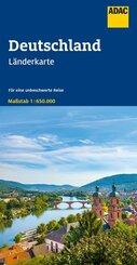 ADAC Länderkarte Deutschland 1:650 000