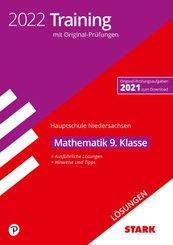 STARK Lösungen zu Original-Prüfungen und Training Hauptschule 2022 - Mathematik 9. Klasse - Niedersachsen