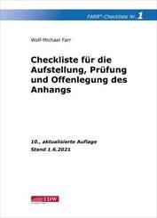 Farr, Checkliste 1 (Aufstellung, Prüfung und Offenlegung des Anhangs)