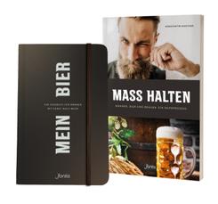 """Paket: Sachbuch """"MASS HALTEN"""" plus Tagebuch """"MEIN BIER"""", 2 Teile"""