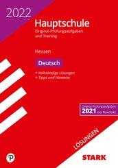 STARK Lösungen zu Original-Prüfungen und Training Hauptschule 2022 - Deutsch - Hessen