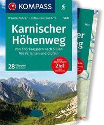 KOMPASS Wanderführer Karnischer Höhenweg, Von Thörl-Maglern nach Sillian, Mit Varianten und Gipfeln