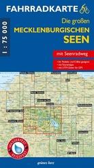 Fahrradkarte Die großen Mecklenburgischen Seen