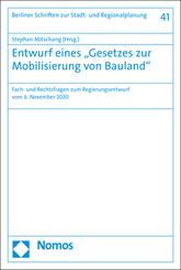 """Entwurf eines """"Gesetzes zur Mobilisierung von Bauland"""""""