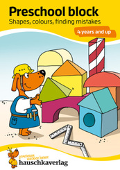 Preschool block - Shapes, colours, finding mistakes 4 years and up, A5-Block