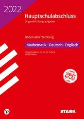 STARK Original-Prüfungen Hauptschulabschluss 2022 - Mathematik, Deutsch, Englisch 9. Klasse - BaWü