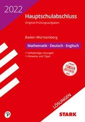 STARK Lösungen zu Original-Prüfungen Hauptschulabschluss 2022 - Mathematik, Deutsch, Englisch 9. Klasse - BaWü