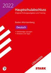 STARK Lösungen zu Original-Prüfungen und Training Hauptschulabschluss 2022 - Deutsch 9. Klasse - BaWü