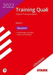 STARK Lösungen zu Training Abschlussprüfung Quali Mittelschule 2022 - Deutsch 9. Klasse - Bayern