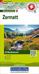 Zermatt Nr. 13 Touren-Wanderkarte 1:50 000