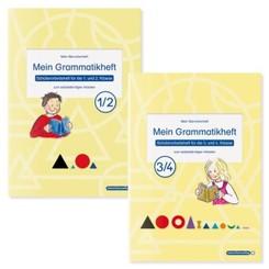 Mein Grammatikheft 1/2 & 3/4 für die 1. bis 4. Klasse im Set, 2 Teile