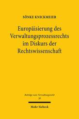 Europäisierung des Verwaltungsprozessrechts im Diskurs der Rechtswissenschaft