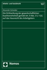 Die Drittwirkung der gewerkschaftlichen Koalitionsfreiheit gemäß Art. 9 Abs. 3 S. 1 GG auf das Hausrecht des Arbeitgeber