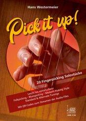 Pick it up! 20 Fingerpicking Solostücke. Leicht bis mittelschwer.