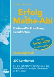 Erfolg im Mathe-Abi 2022, 200 Lernkarten Leistungsfach Allgemeinbildendes Gymnasium Baden-Württemberg