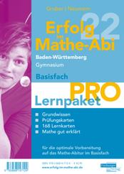 Erfolg im Mathe-Abi 2022 Lernpaket Basisfach 'Pro' Baden-Württemberg Gymnasium, 4 Teile