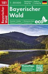 Bayerischer Wald, Wander - Radkarte 1 : 50 000
