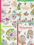 Malbuch für Erwachsene - Paket (4 Bücher)