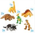 Plüschtier Paket: Kleine Dinosaurier (12 Stück)