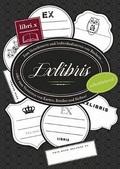 80 Sticker für Bücher - ExLibris Stickerbuch schwarz/weiß, selbstklebend