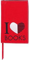 Buchumschlag - I Love Books -  Schutzumschlag für Taschenbücher