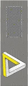 Lesezeichen - Optische Illusionen Dreieck