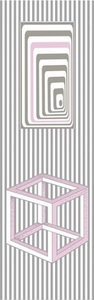 Lesezeichen - Optische Illusionen Kubus