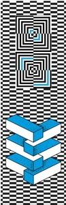Lesezeichen - Optische Illusionen Rechtecke