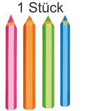 Radierer - Bunte Stifte (1 Stück, Farbe zufällig)