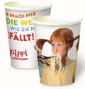 Pippi Langstrumpf - Pappbecher (8 Becher im Set)