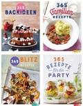 Kochbuch-Paket - Blitzrezepte, Backen, Familie, Party (4 Bücher)