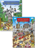 Wimmelbuch Paket: Mittelalter, Ritter & Burgen (2 Bücher)