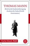 [Brief an die Studentenbewegung »Students for Federal World Government«] (eBook, ePUB)