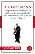[Telegramm an Dr. Shapley und die »Konferenz der Kulturschaffenden und Wissenschaftler für Weltfrieden« in New York, 1949] (eBook, ePUB)