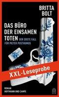 XXL-LESEPROBE: Bolt - Das Büro der einsamen Toten (eBook, ePUB)