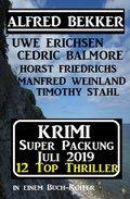 Krimi Super Packung Juli 2019 - 12 Thriller in einem Buch-Koffer (eBook, )