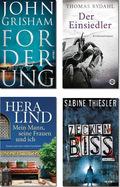 Buchpaket - Romane & Krimis (4 Bücher)