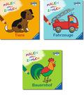 Malen nach Zahlen - Für Kinder ab 3 Jahren (4 Bücher)