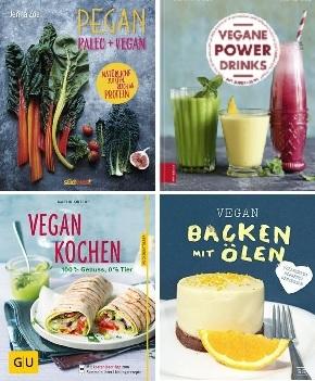 Vegan Kochen & Backen - Buchpaket (4 Bücher)