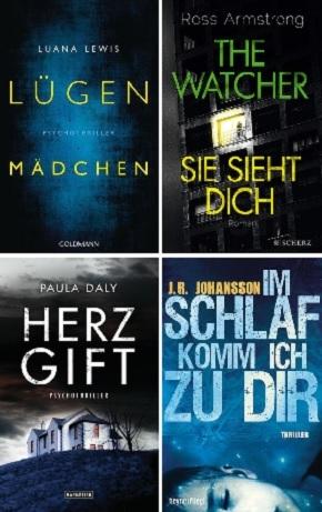 Psychothriller Buchpaket (4 Bücher)