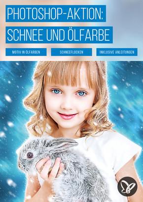 PS-Aktion Schneeflockenzauber: Schnee und Ölfarbe