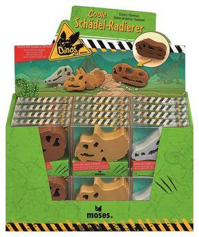 Coole Schädel Radierer - Dinosaurier (24 Stück)