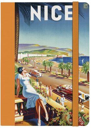 Notizbuch Retro Poster Nizza Promenade
