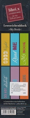 Libri_x Lesezeichenblock - My Book