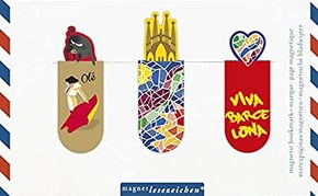 Magnet Lesezeichen - Motive Barcelona (3er Set)