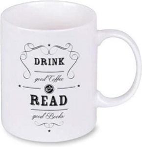 libri_x Porzellantasse - Drink good coffee & read good books