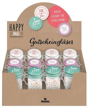 Happy me Gutscheinglas - (12 Stück)