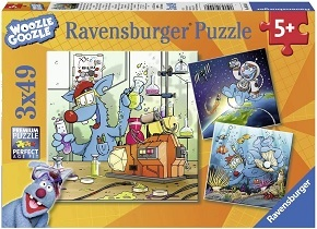 Woozle Goozle  Puzzle (3x 49 Teile)
