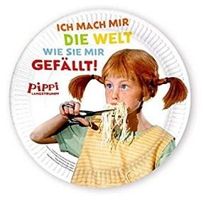 Pippi Langstrumpf - Pappteller (8 Stück)